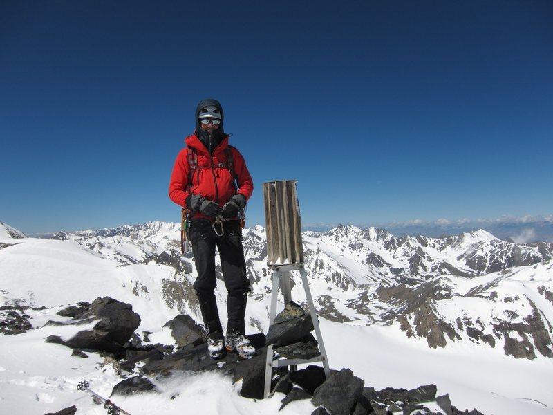 Rock Climbing Photo: Soviet cartographical tripod found on the summit o...