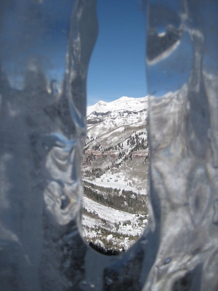 Rock Climbing Photo: Ice window at 1st belay.