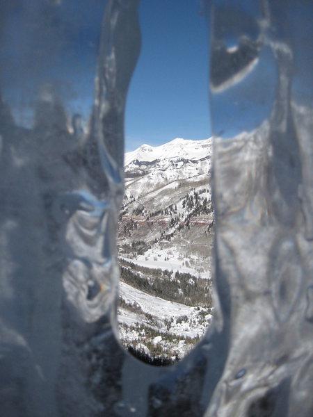 Rock Climbing Photo: Ice window at 1st belay.
