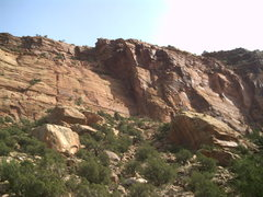 Rock Climbing Photo: Sunshine slabs viewed from the road.  Wide Open Sp...