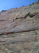 Rock Climbing Photo: John and Chad on the last pitch of Road To Nowhere...