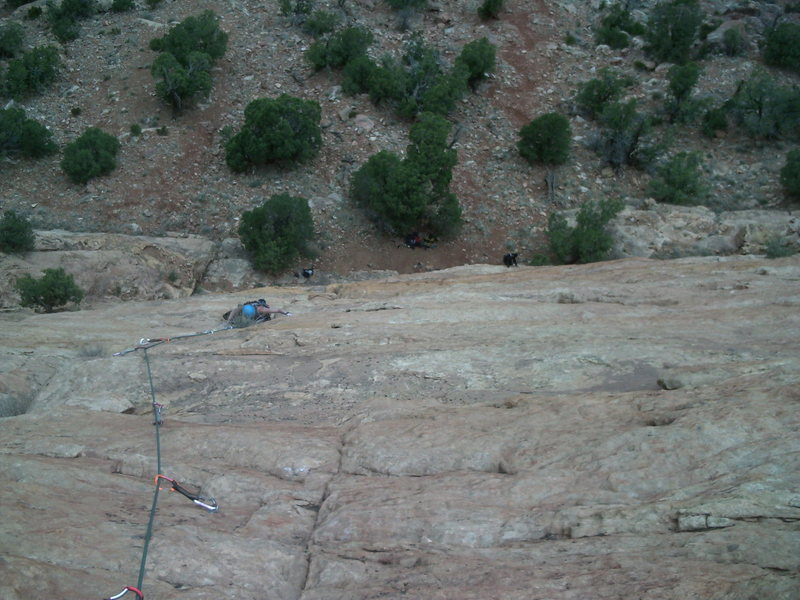 Rock Climbing Photo: A view of the last bolted section.  One section ha...