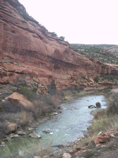 Dolores River Flume.