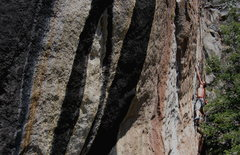 Rock Climbing Photo: Dean sticking the crux throw on Holy Roller 5.12, ...