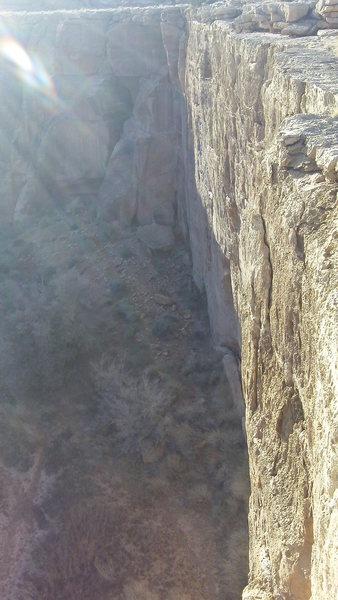 Rock Climbing Photo: Titanic Wall at sunset