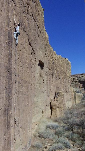 Rock Climbing Photo: Tiago leading Athabaskan