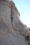 Rock Climbing Photo: Leg jam.