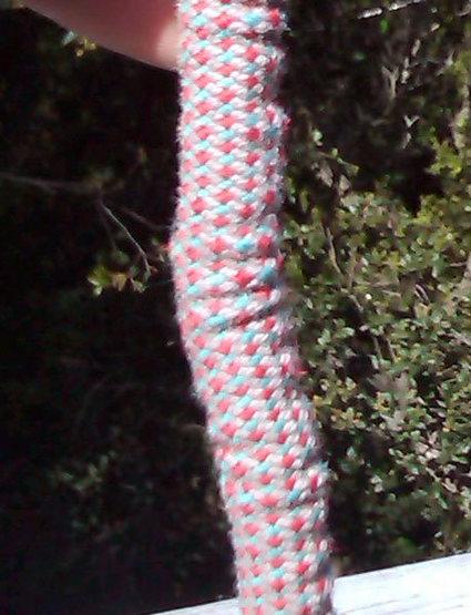 Rock Climbing Photo: Closeup of sheath slippage