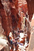 Rock Climbing Photo: Busy Saturday around noon in the Black Corridor.