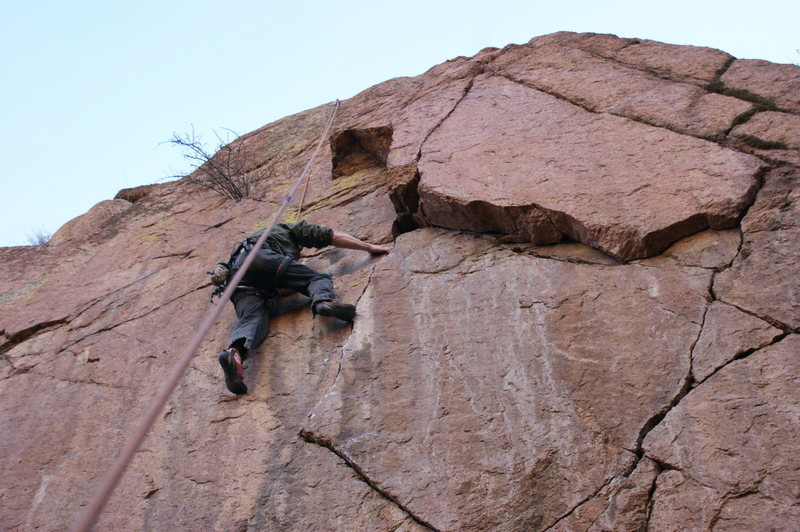 Rock Climbing Photo: Me on TR. Escape from New York.