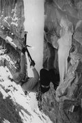 Rock Climbing Photo:  Eric Wright leading Gold Digger on the  first asc...