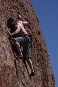 Rock Climbing Photo: Being awesome on The Newcomer at The Mine in Queen...