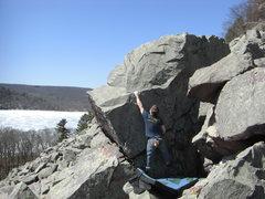 Rock Climbing Photo: Vince sticking the jug.