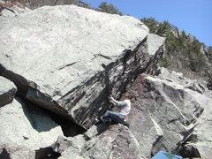 Rock Climbing Photo: Vince trying a lower start.