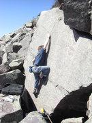 Rock Climbing Photo: Vinny getting the finger lock.