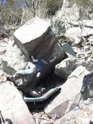 Rock Climbing Photo: Getting the sharp crimp.