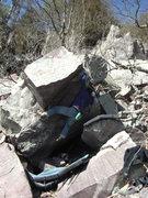 Rock Climbing Photo: Moving up the corner.