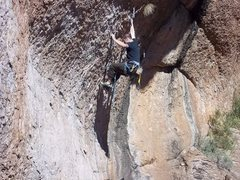 Rock Climbing Photo: Failing miserably on Desert Devil. 13.a queen cree...