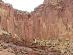 Rock Climbing Photo: An overview photo of the left side of Capitol Gorg...