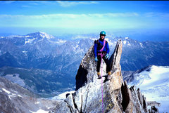 Rock Climbing Photo: Famous moderate mt route in Chamonix