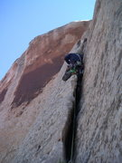 Rock Climbing Photo: Me on the First Ascent.