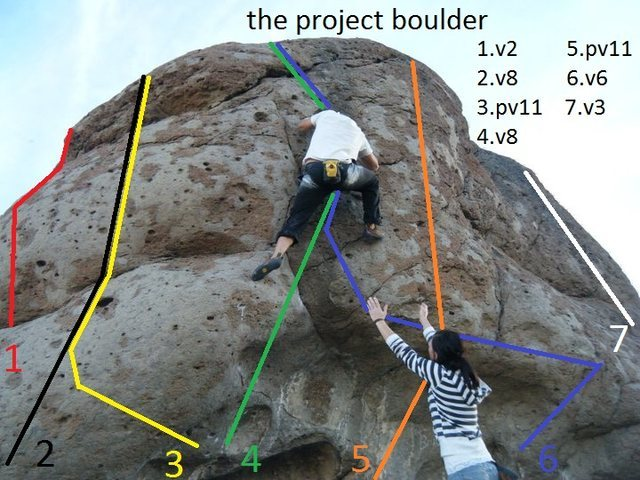 Rock Climbing Photo: the project boulder