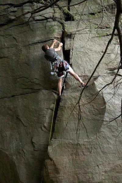 Rock Climbing Photo: Barndoor (First 5.10 trad lead)