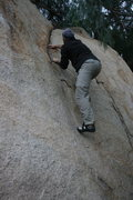 Rock Climbing Photo: Johnson on the Pepper Tree Crack.