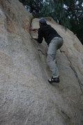 Rock Climbing Photo: Johnson on the Pepper Tree Crack.