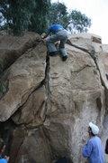 Rock Climbing Photo: Kevin Aris on the Dynamite Flake.