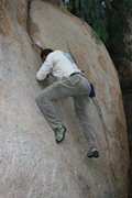 Rock Climbing Photo: Kenn Kenaga on the Pepper Tree Crack.