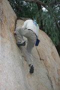 Rock Climbing Photo: Kenn Kenaga on the Pepper Tree Crack.