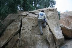 Rock Climbing Photo: Kenn Kenaga on the Dynamite Crack.