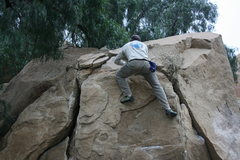 Rock Climbing Photo: Kenn Kenaga on the Dynamite Crack.