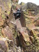 Rock Climbing Photo: Third Pitch (5.8+) of Long John Wall