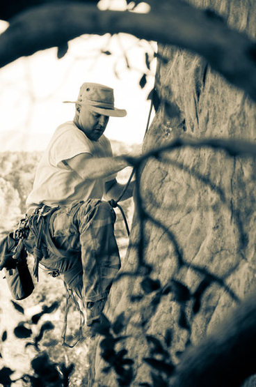 "Rock Climbing Photo: ""Boot climbing"" at Stoney Point"