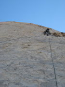 Rock Climbing Photo: Eric on the 1st pitch of Walk on the Wild Side.