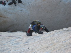 Rock Climbing Photo: Walk on the Wild Side, Agina on the 1st pitch.