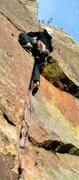 Rock Climbing Photo: Above the crux on The Unsaid.