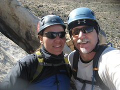 Rock Climbing Photo: Agina and I at the 1st belay, Walk on the Wild Sid...