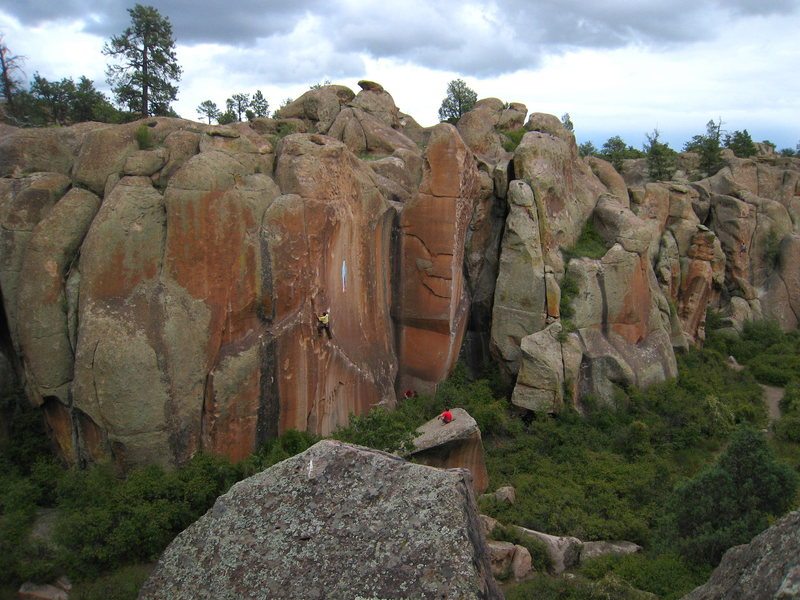 Rock Climbing Photo: The canyon felt electric that day.