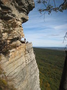 Rock Climbing Photo: Approaching the GT Ledge.