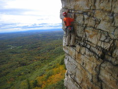 Rock Climbing Photo: First did this route in the 90's.  Shirt and helme...