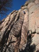 Rock Climbing Photo: Pursuing shadows.