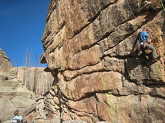 Rock Climbing Photo: Fantastic climbing on this route.