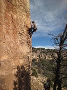 Rock Climbing Photo: Lauren cranking the start.