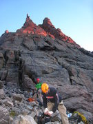 Rock Climbing Photo: First rays of dawn, it's time to go.