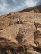 Rock Climbing Photo: Tina making her way up the featured rock of Sidewi...