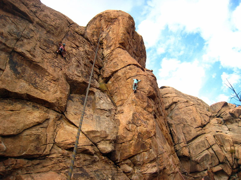 Rock Climbing Photo: A crowded day at Thunder Ridge (there were 4 of us...