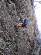 Rock Climbing Photo: At the horizontal shake before the crux of Swing L...